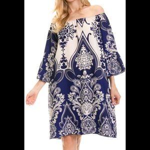 Plus size paisley print dress